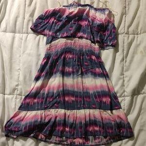 Tie dye festival mini dress